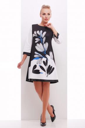 Белые лепестки платье Тая-2ФК д/р. Цвет: принт