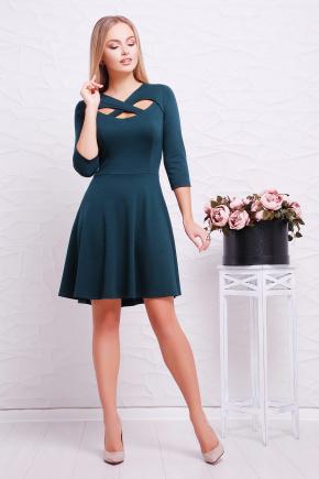 платье Криста д/р. Цвет: изумрудный