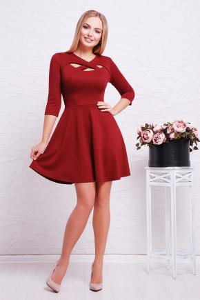 платье Криста д/р. Цвет: бордовый