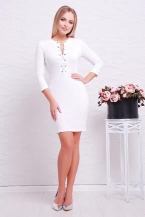 платье Доната д/р. Цвет: белый