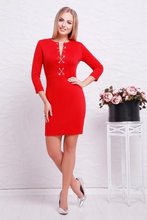 платье Доната д/р. Цвет: красный