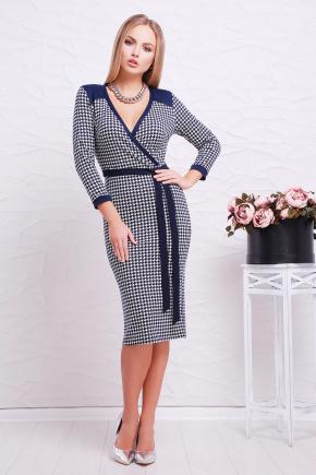 платье Исидора д/р. Цвет: т.синий-лапка