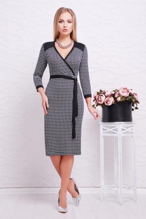 платье Исидора д/р. Цвет: черный-лапка