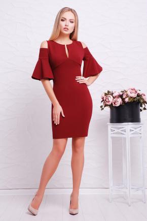 платье Марион к/р. Цвет: бордовый