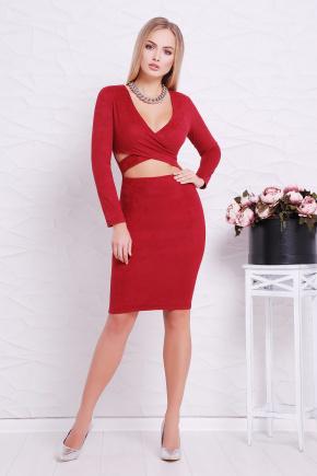 платье Эмилия д/р. Цвет: бордовый