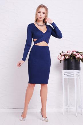 платье Эмилия д/р. Цвет: темно синий