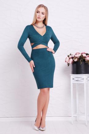 платье Эмилия д/р. Цвет: изумрудный