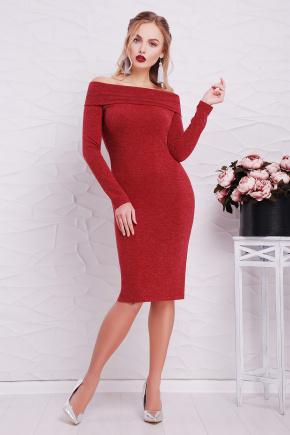 платье Гвинея д/р. Цвет: бордовый