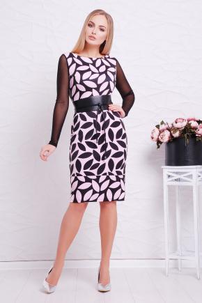 Розовый лист платье Лоя-3ФСП д/р. Цвет: принт