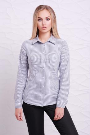 блуза Рубьера д/р. Цвет: белый-черная м. полоска