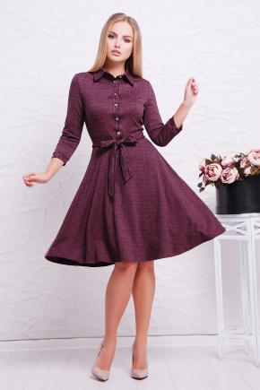 платье Ларена д/р. Цвет: бордовый-джинс