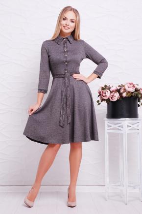 платье Ларена д/р. Цвет: серый-джинс