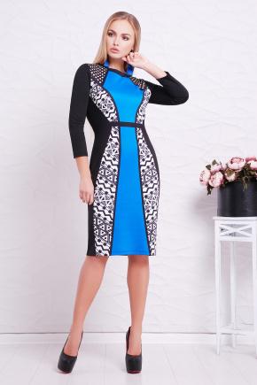 Геометрический орнамент платье Лия-2Ф д/р. Цвет: принт