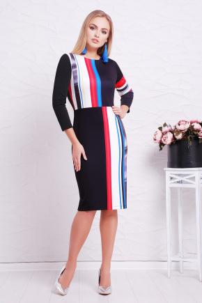 Полоска платье Лия-3Ф д/р. Цвет: принт
