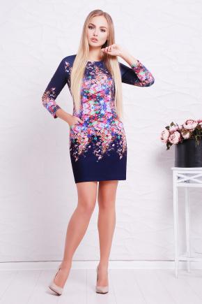 Фиолетовые цветы платье Фрида д/р. Цвет: принт