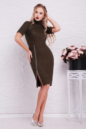 платье Зафира к/р. Цвет: хаки