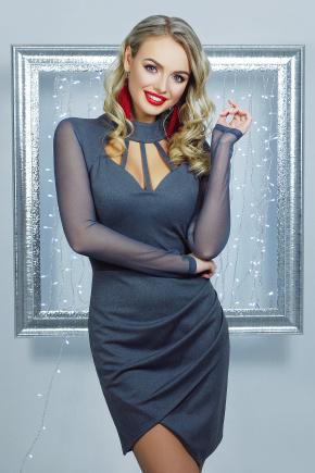 платье Доляна д/р. Цвет: серый