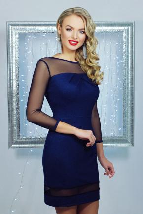 платье Агния д/р. Цвет: темно синий