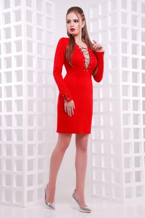 платье Лукира д/р. Цвет: красный