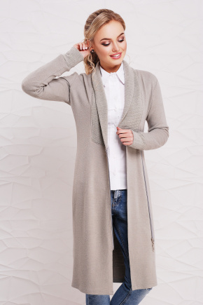 платье Шимона д/р. Цвет: светло серый