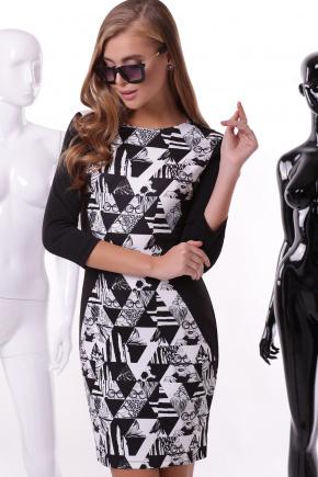Айрис платье Лея-3Ф д/р. Цвет: принт