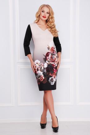 Вечерний сад платье Калоя-2Б д/р. Цвет: принт
