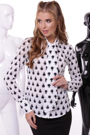 Платья блуза Айрис д/р. Цвет: принт