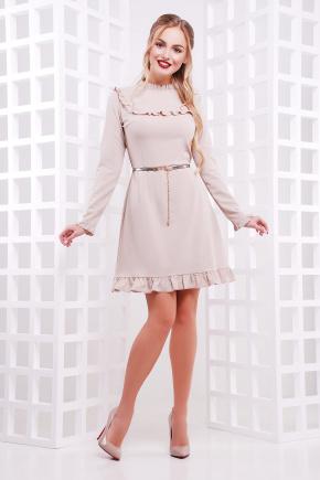 платье Модина д/р. Цвет: св. бежевый