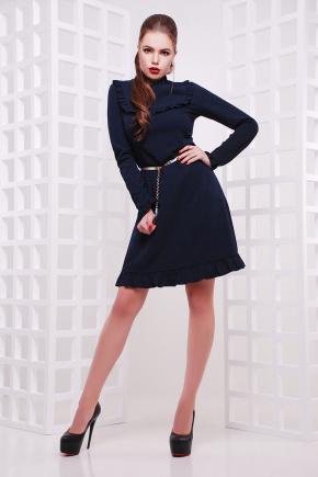 платье Модина д/р. Цвет: темно синий