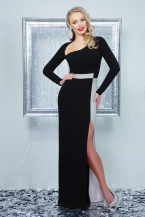 платье Лучезара д/р. Цвет: черный-серебро