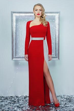 платье Лучезара д/р. Цвет: красный-серебро