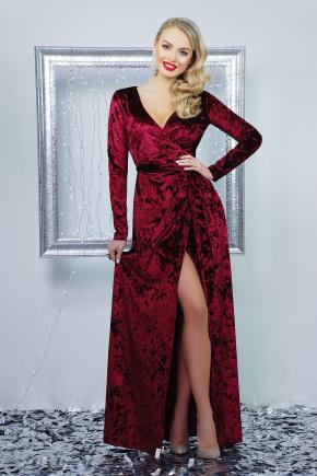 платье Нателла д/р. Цвет: бордовый