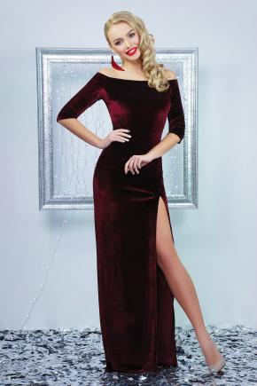 платье Рафаэлла д/р. Цвет: бордовый