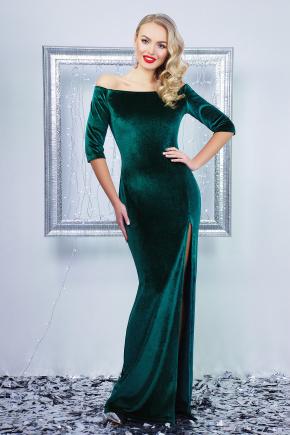 платье Рафаэлла д/р. Цвет: изумрудный