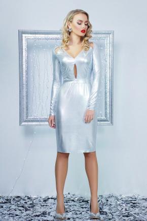 платье Графити д/р. Цвет: серебро
