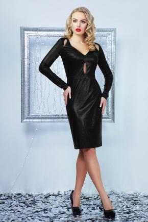 платье Графити д/р. Цвет: черный металлик