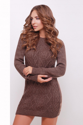 Платье-туника 143. Цвет: коричневый