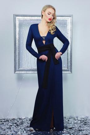 платье Элиска д/р. Цвет: темно синий