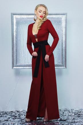 платье Элиска д/р. Цвет: бордовый
