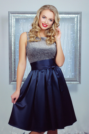 платье Лонелла б/р. Цвет: темно синий