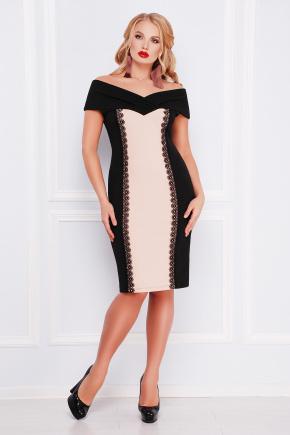 платье Аделина-Б б/р. Цвет: черный-бежевый