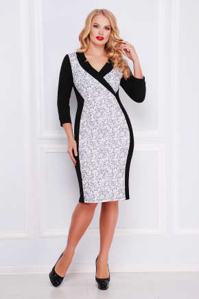 Кружево серое платье Ирида-Б д/р. Цвет: черный