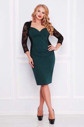платье Сусанна-Б д/р. Цвет: изумрудный-черный