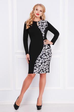 Лепестки платье Антонина-Б д/р. Цвет: черный