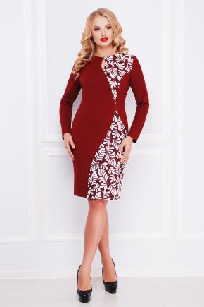 Лепестки платье Антонина-Б д/р. Цвет: бордовый