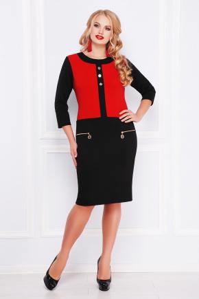 платье Таисия-Б д/р. Цвет: черный-красный