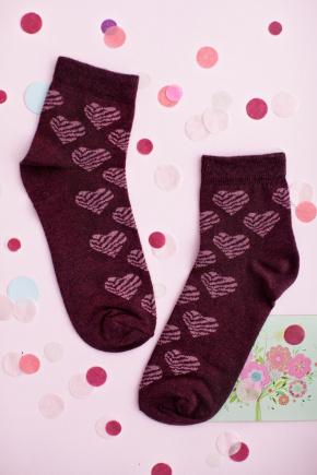 Носки 1013. Цвет: бордовый-розовый