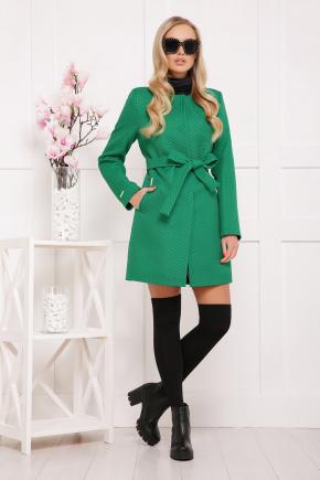пальто П-337. Цвет: зеленый горох