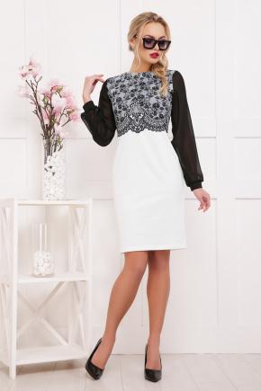 Кружево черное платье Лерина д/р. Цвет: принт