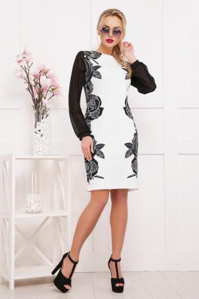 Розы-кружево платье Лерина д/р. Цвет: принт